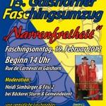 Plakat Faschingsumzug 2012